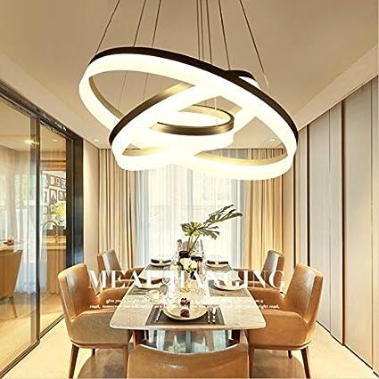AMZH Lusso moderno lampadario LED cerchio anello luce lampadario per ...