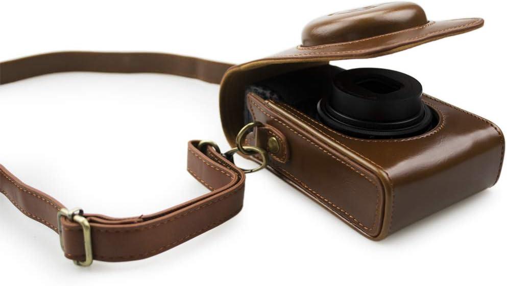 kinokoo PU Leather Case Bag Tailored for Ricoh GR//GR II//GR III Protective Carrying Bag Coffee