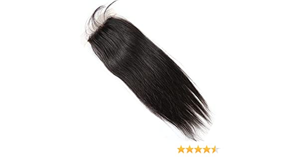 Amazon.com : Bella Hair 44 Free Part Silk Base Closure Brazilian Straight Hair 1pc Natural Color (10inch) : Beauty
