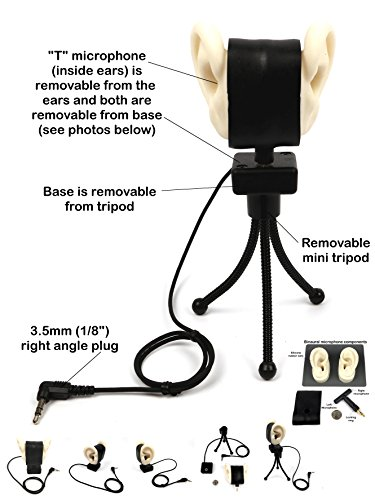 (MS-BINAURAL-EARS - Master Series by Sound Professionals - New! Ultra low noise self-powered professional adjustable Binaural microphone using realistic human-shaped ears - Made in USA - Item)