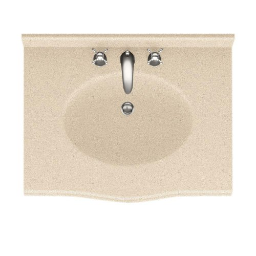 Swanstone EV1B2237-050 Europa 37-Inch Solid Surface Vanity Top with Tahiti Desert Basin