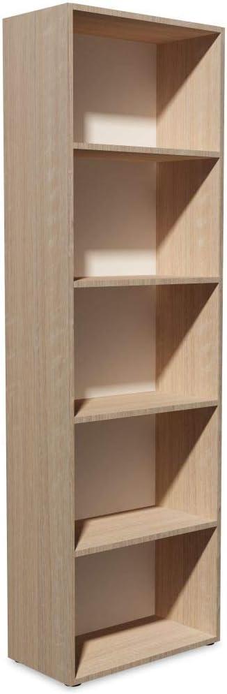 vidaXL Estantería 60x31x190 cm Madera Color Roble Repisas Mueble Organizador
