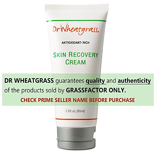 Bioactive Extract - Dr Wheatgrass Antioxidant Skin Recovery Cream 85ml (2.87fl.oz.) - Powerful Skin Recovery, Natural and Safe, Great for Aged or Damaged Skin, Dry and Itchy Skin, and Other Various Skin Disorders