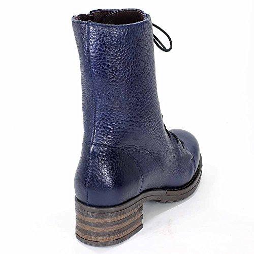 Brako Stiefel Boots 8470 Traviata Military Leder marino blau