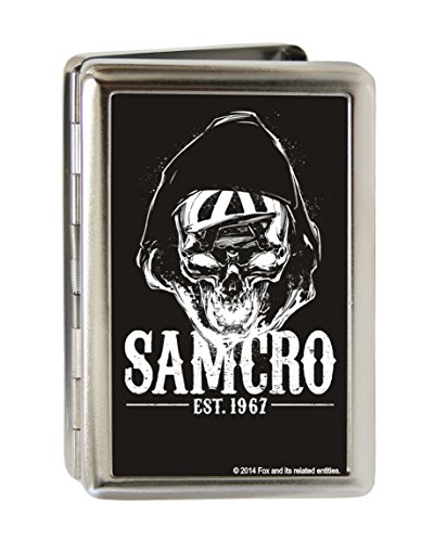 Sons of Anarchy - SAMCRO Hooded Reaper Brushed - Metal Multi-Use Wallet Business Card (Hooded Reaper)
