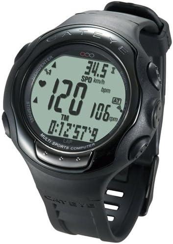 Cateye Q Series Q3A - Reloj deportivo multifunción, color negro
