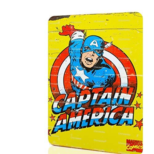 Metal Sign Captain America Classic Marvel Superhero Rusted Decor Home Wall Art