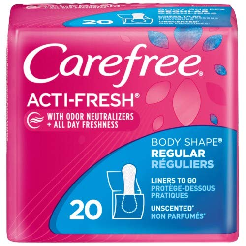 Carefree Acti-Fresh Body Shape Panty Liners - Regular (Pack of 36)