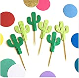 DeroTeno Turnon mexican fiesta birthday wedding cupcake toppers baby shower party cake decoration doughnut food tooothpicks(50-Count)