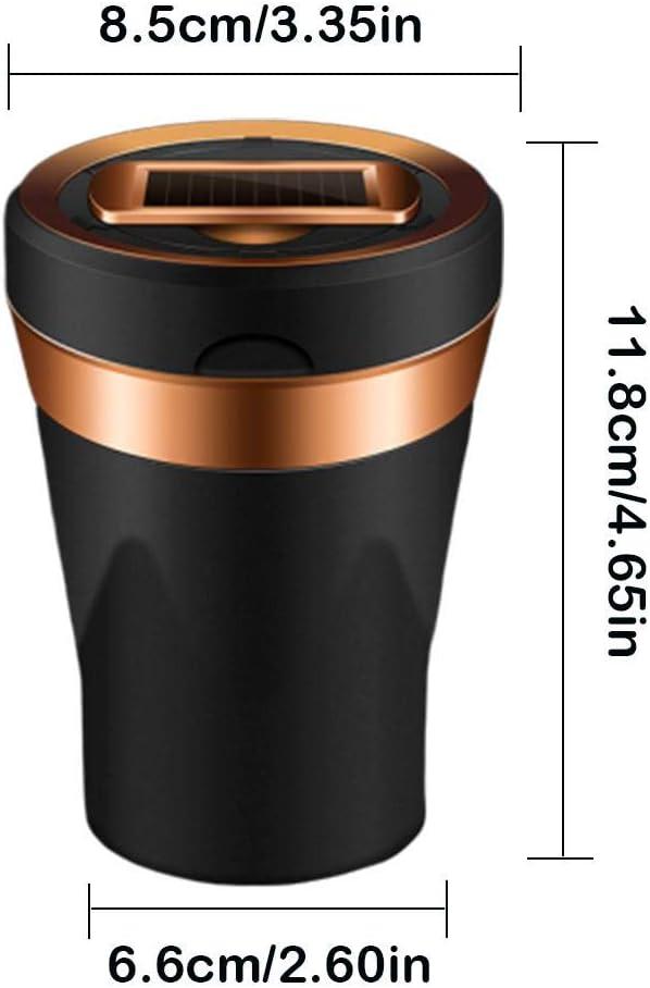 Rubyu Auto-Aschenbecher KFZ Rauchende Zigarette Auto-Aschenbecher Multifunktionaler Edelstahl-Metall-St/ürmchenbecher mit Deckel und Blauer LED-Leuchte