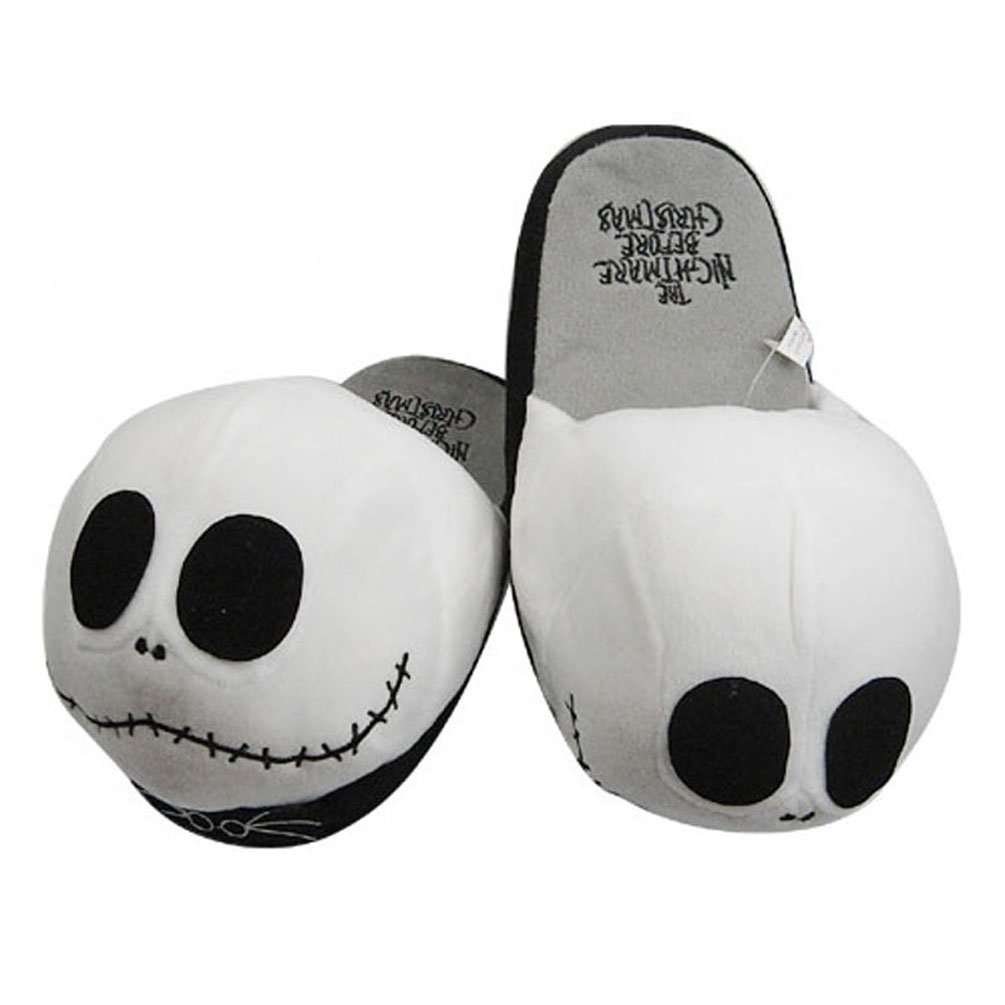 Amazon.com: Funny Soft Plush Warm Slippers Jack Skellington the ...