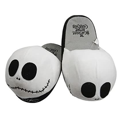 funny soft plush warm slippers jack skellington the nightmare before christmas