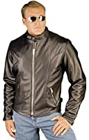 Reed Men's Leather Motorcycle Coat Made in USA