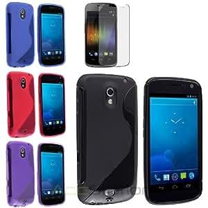 Black+Purple+Pink+Blue 4x Skin Gel Case+Pro For Samsung Galaxy Nexus i515 i9250