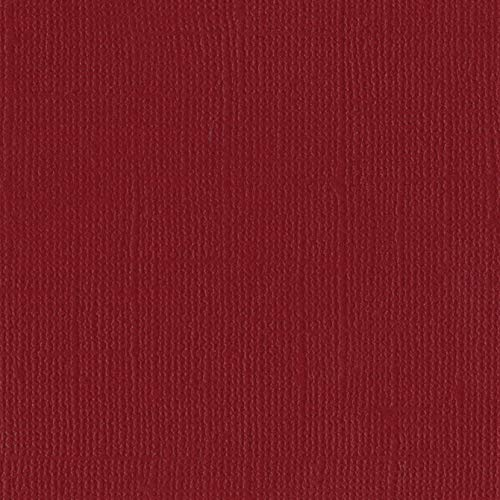 Bazzill Pomegranate 12x12 Textured Cardstock | 80 lb Garnet Red Scrapbook Paper | Premium Card Making and Paper Crafting Supplies | 25 Sheets per Pack
