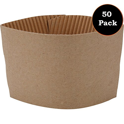 1InTheOffice Corrugated Coffee Cup Sleeves For 12oz 16 oz 22oz 24oz