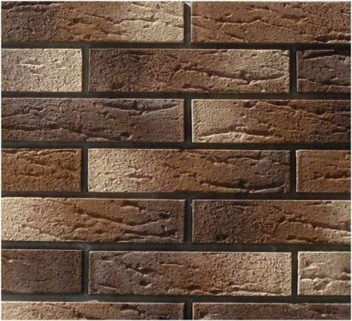 vertikal dekorativer Beton 3D-Ziegel-Muster bedruckt