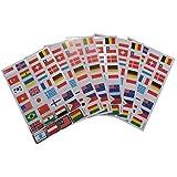 6 x feuilles de Drapeaux du Monde Pays Autocollants pour Enfants Filles Garçons, loisirs créatifs, scrapbooks, fabrication cartes, cadeau Fête Sacs par Fat-catz-copy-catz