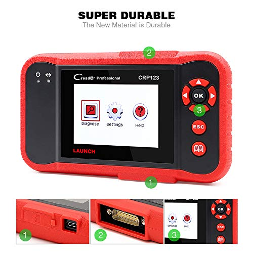 LAUNCH CRP123 OBD2 CReader ABS SRS Transmission Engine Code Reader Diagnostic Scanner by LAUNCH (Image #1)