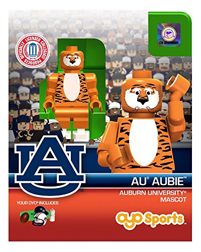 College Mascots (Auburn University Aubie Mascot College Football Oyo Mini Figure Compatible NCAA Licensed Building Block Toy)