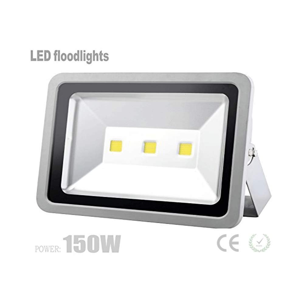 W-LITE 150W Super Bright LED Flood lights Outdoor, 12000Lm, 3000K, Warm White, Full Power, Lighting for Garden/Yard/Lawn/Patio/Porch, Waterproof Security Lamp, Aluminum
