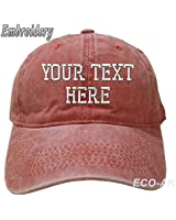 Unisex Vintage Custom Embroidered Baseball Cap Personalized Mesh Trucker Dad Hat Light Coral