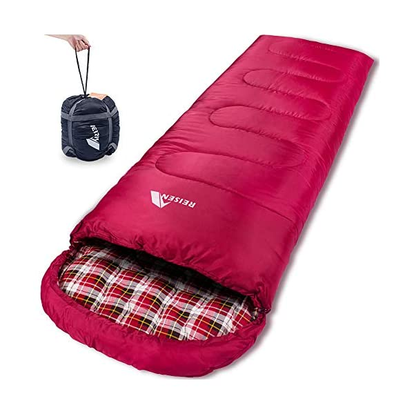 Reisen Warm & Cold Weather Sleeping Bag, 0 Degree Celsius Lightweight Sleeping Bags for Adults/Youth, Great for 3-4 Season Backpacking/Camping/Hiking (30°F-50°F) ... 3