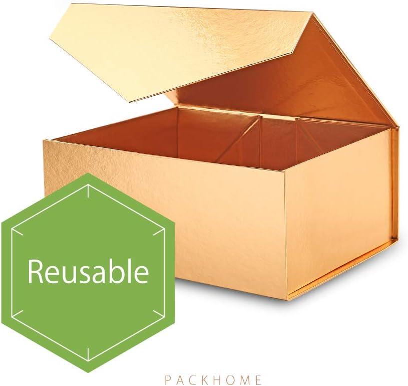rechteckige Faltschachtel mit Magnetverschluss f/ür Geschenkverpackungen Trauzeugen-Box PACKHOME Rechteckige Geschenkbox 9,5x7x4 Zoll Gl/änzendes Gold, 1 Box)