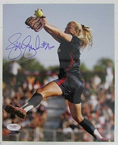 (Jennie Finch USA Softball Autographed/Signed 8x10 Photo 132305 - JSA Certified - Autographed Olympic Photos )