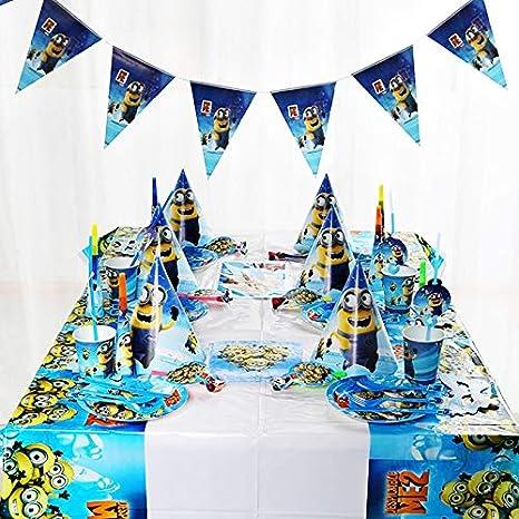 141 Unids Minions Theme Kids Fiesta De Cumpleaños Decorar ...