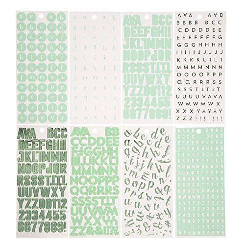 Darice Mint Colored Capital Symbol Alphabet and Punctuation Stickers ()