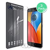 [3 PACK] Motorola Moto E4 / Moto E (4th Generation) Screen Protector, LK [Tempered Glasss] with Lifetime Replacement Warranty [NOT fit for Moto E4 Plus]