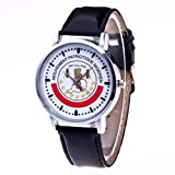 Women Watches,SINMA Elegant Luxury Ladies Wristwatch Artificial Leather Analog Quartz Movement Rount Watches Simulation Wrist Watch (Coffee)