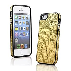 QJM Crocodile Grain PU Leather Back Case for iPhone 5/5S (Assorted Color) , Red