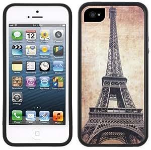Vintage Eiffel Tower Paris Handmade iPhone 5 5S Black Bumper Plastic Case
