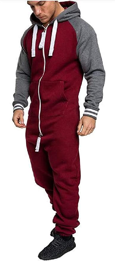 Joe Wenko Mens Stand Collar Two Pieces Athletic Jacket Loose Tracksuit Set