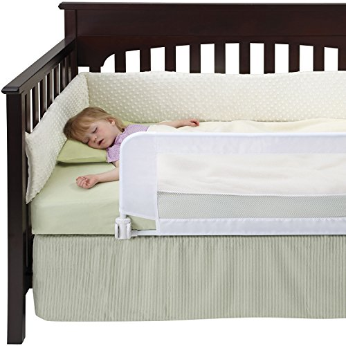DexBaby Safe Sleeper Convertible Crib Bed Rail for Toddler with Reinforced Anchor...