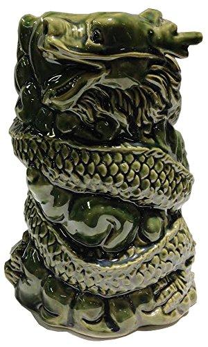 Large Green Dragon Vase