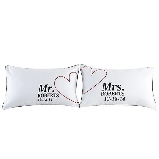 Dreamyth - 1 par de fundas de almohada con letra impresa ...