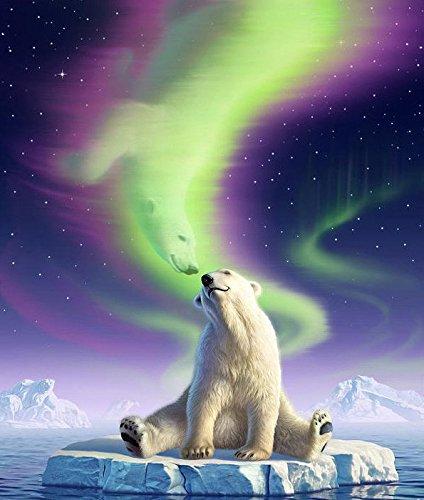 - Crow's Soul 5D DIY diamond paintings diamond cross -embroidered diamond The polar bear lovely Ice bear ice water dream shadow 2020