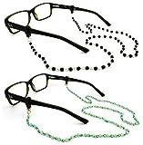 Peeper Keepers Czech Beads & Chains, Eyeglass Retainer, Assortment(1), 2pk mix, w/Cloth & Screwdriver