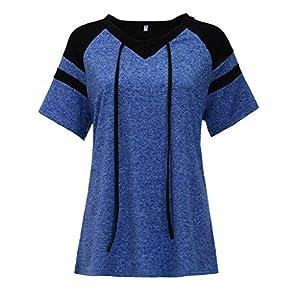 Canifon Women's T-Shirts Long Sleeve V-Neck Casual Blouses Plus Size Ethnic Print Zipper Pocket Summer Retro Tunic Tops