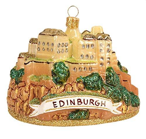 Edinburgh Castle Scotland Polish Glass Christmas Ornament Travel Decoration Souvenir