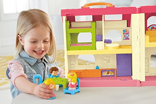 514mw1F77GL - Fisher-Price Little People Surprise & Sounds Home Playset