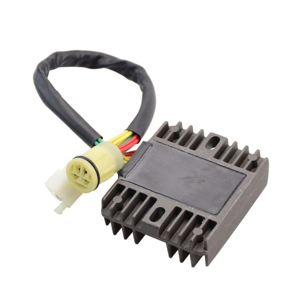 GOOFIT Motorrad Boot Motor Mercur Neue Spannungsregler Gleichrichter F/ür Honda XRV750 XRV 750 P-Y 1993-03