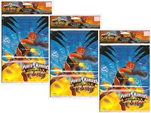 Power Ranger Jungle Fury Treat Bags, 24 Count