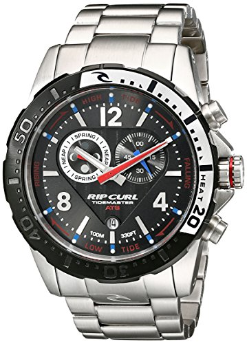 Rip Curl Men's A1113 Stainless Steel Watch with Link (Tidemaster Tide Watch)
