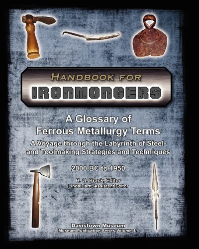 Handbook for Ironmongers: A Glossary of Ferrous Metallurgy Terms - A Voyage through the Labyrinth of Steel and Toolmakin