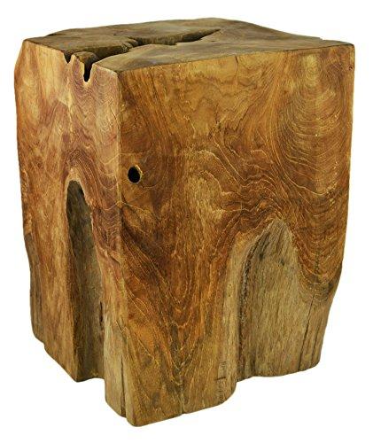 Teak-Beistelltisch-Couchtisch-Hocker-Nachttisch-Telefontisch-Massiv-Holz-Unikat