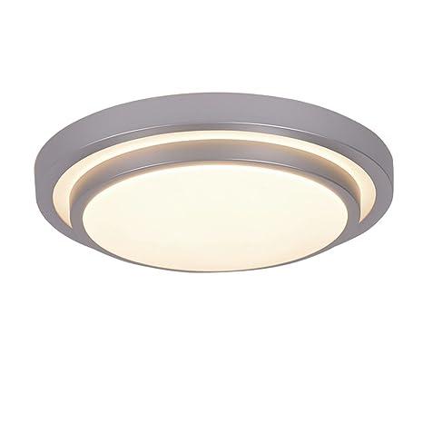 ZHMA Lámpara de techo empotrada 12W, Lámpara de techo LED, Cepillo de luz de techo de aluminio, Panel de luz LED resistente al agua moderna, Blanco ...